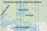 Here's a look at Trout Lake, just north of Lake Vermillion in the Boundary Waters Canoe Area Wilderness.