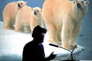 Will Steger will speak to any group willing to listen to his pleas on what climate change in the Artic portends -- how it could wipe out the polar bea