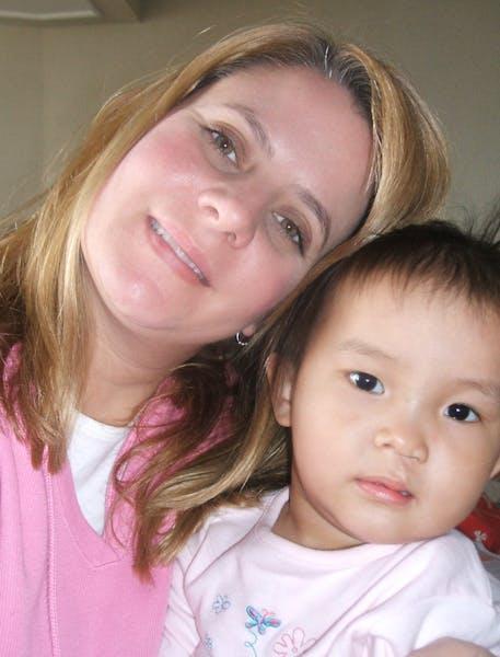 Michelle Ransavage with Mia.