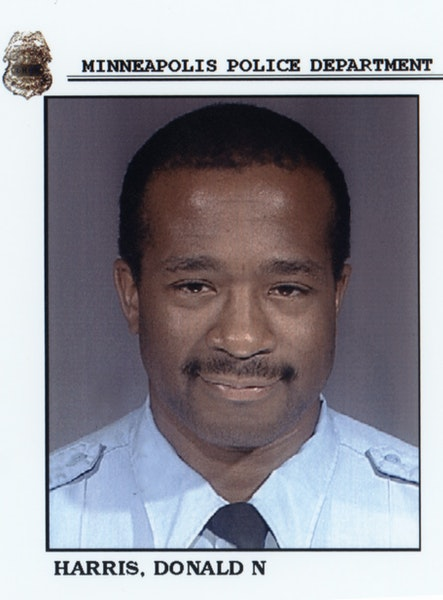 Minneapolis Police Lt. Donald N. Harris to become police precinct inspector. See article Sat Oct 19, 2002, page B3. Handout photo courtesy of the Minn