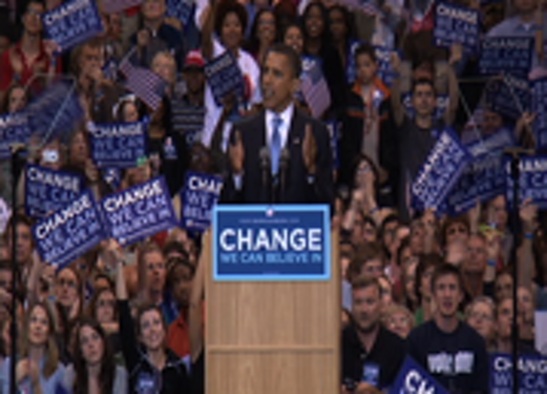 Obama's victory speech