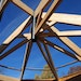 The exposed gallery trusses at the Silverwood Park construction project. The octagonal room in the park's visitors center will feature a gallery of