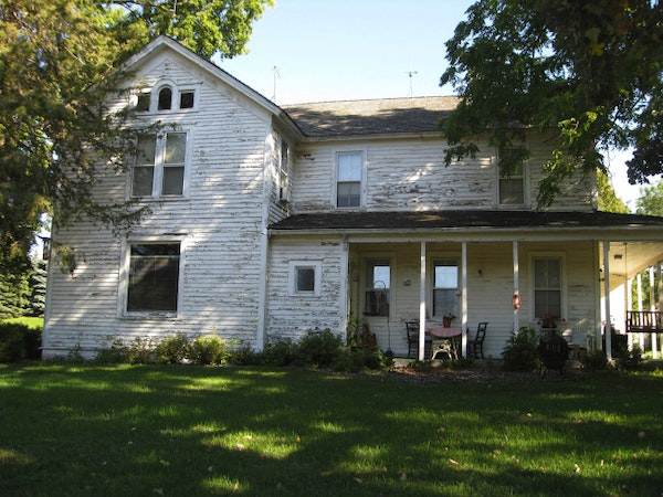 The John Brown house, built in about 1865 with a 1907 addition, was owned by a city official who also served in the 1st Minnesota regiment and fought