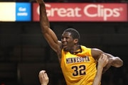 As Michigan's Zack Novak can attest to last month, Trevor Mbakwe can be a beast underneath the Gophers' basket.