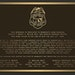 The plaque to reside at the memorial in New Ulm, Minn., honoring the slain conservation officers.