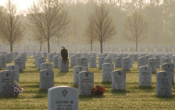 Frank Glick took this photo at Fort Snelling National Cemetery. When he recorded the shot, he never could have guessed how much it was going to mean t