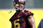 Gophers wide receiver Da'Jon McKnight (6) wanted to be the next Michael Jordan in a Dallas high school, but football coaches convinced him to return t