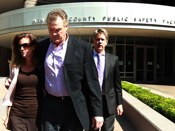 Amy Senser, with her husband, Joe, at her side, left the Hennepin County jail in Minneapolis on Thursday after posting bond.