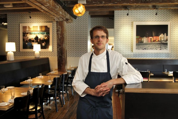 Chef Paul Berglund in the dining room of The Bachelor Farmer.