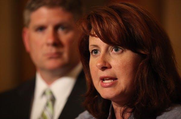 Senate Majority Leader Amy Koch and Speaker of the House Kurt Zellers