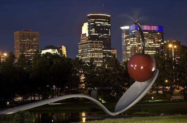 Spoon Bridge and Cherry at Sculpture Garden