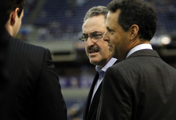 Minnesota Vikings owner Zygi Wilf and Mark Wilf, President of the Minnesota Vikings