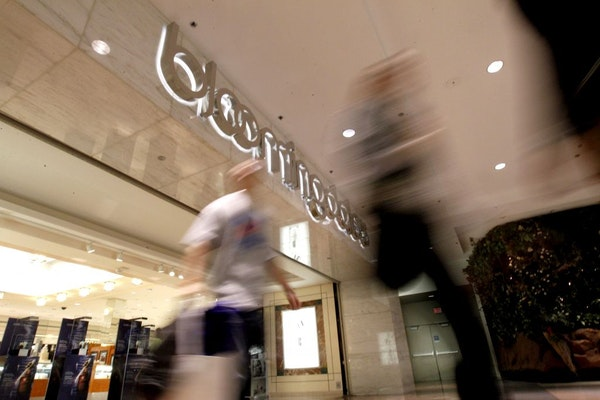 Shoppers walked out of the Bloomingdale's store at the Mall of America