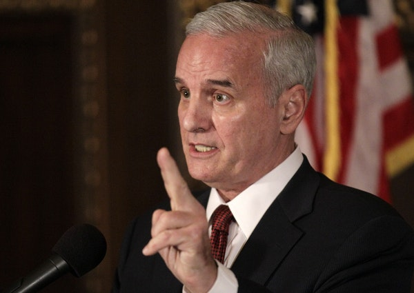 Gov. Mark Dayton said Wednesday he is leaning toward a site near the Basilica of St. Mary in downtown Minneapolis for a new Vikings stadium.