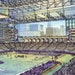 This artist's rendering shows an interior view of the proposed $975 million Vikings stadium.