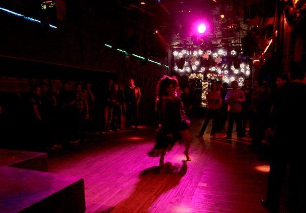 The Saloon dancefloor.