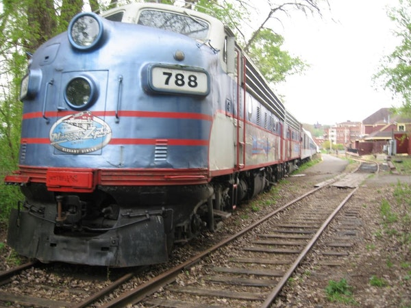 The Minnesota Zephyr dinner train is parked on rails at the north end of downtown Stillwater, where customers boarded for 23 years.