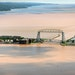 Evidence of the heavy rains that disabled Duluth on Wednesday are visible in Lake Superior as flood water full of sediment created brown run-off and d