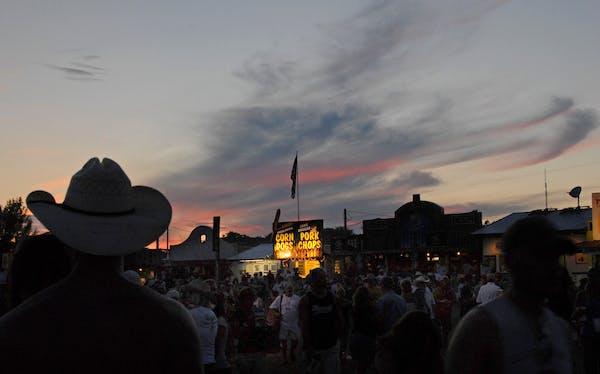 Dusk settles in over We Fest in Detroit Lakes, Minn.