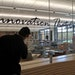 """Workers put the finishing touches on the """"Innovation Garage"""" for team meetings at the new 10-story UnitedHealthcare headquarters in Minnetonka."""