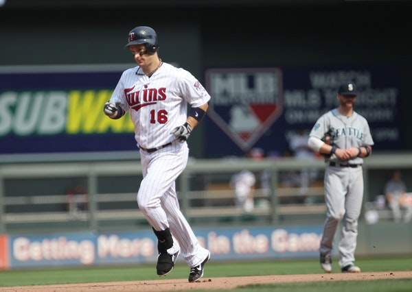 Minnesota Twins Josh Willingham rounded second after his two-run homer in the eighth inning