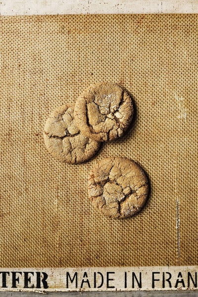"""Old-Fashioned Molasses Cookies With Fresh Ginger, from """"The Dahlia Bakery Cookbook."""""""