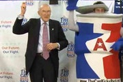 Former Sen. Alan Simpson, 81, dances gangnam style to get his message out about the fiscal cliff.