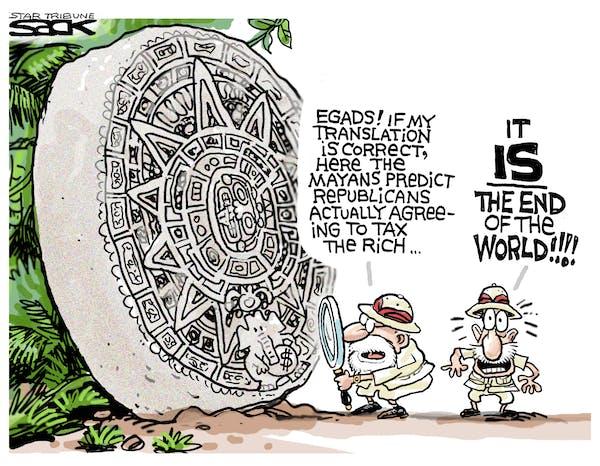 Steve Sack editorial cartoon for Dec. 21, 2012.