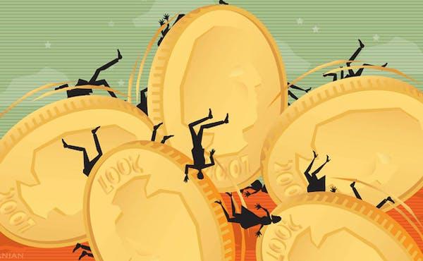 Illustration: America's financial struggles.