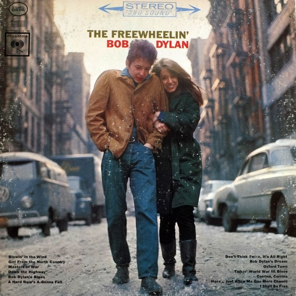 Free Wheelin. __A collection of dylan albums from area music stores, Treehouse Records Electric Fetus and, Hymie's. [ TOM WALLACE � twallace@startri