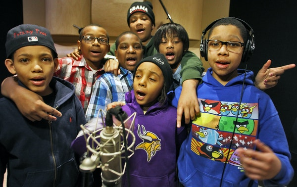 The KIDS: Frizzy Free, Fly Guy, G6, Chips (wearing Obama hat), Ben 10, Lady J and Nasir.
