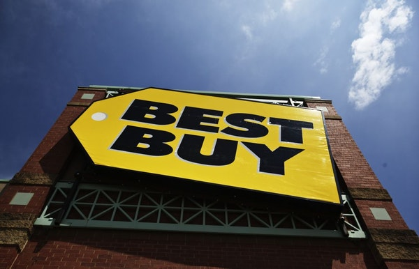 Best Buy signage Thursday, June 7, 2012, in Richfield, MN for an upcoming story.
