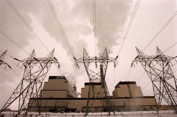 Units 3, 2 and 1 of Xcel Energy's Sherco generating plant in Becker, Minn.