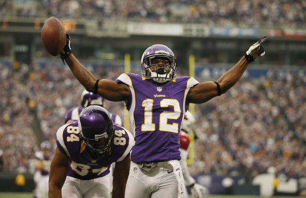 Minnesota Vikings wide receiver Percy Harvin
