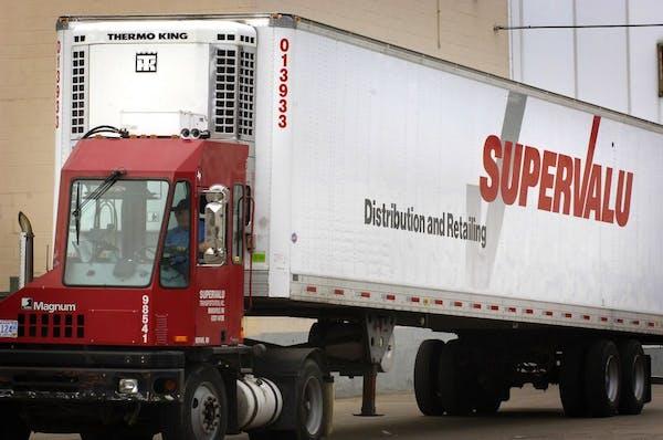 A Supervalu truck at the Supervalu distribution center in Hopkins.