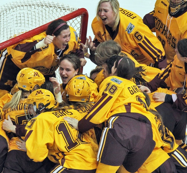 At the final horn, it was Minnesota 6, Boston University 3, and the Gophers joyously celebrated their record-breaking season.
