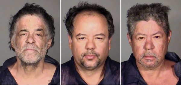 This undated combination photo released by the Cleveland Police Department shows from left, Onil Castro, Ariel Castro, and Pedro Casto.The three broth