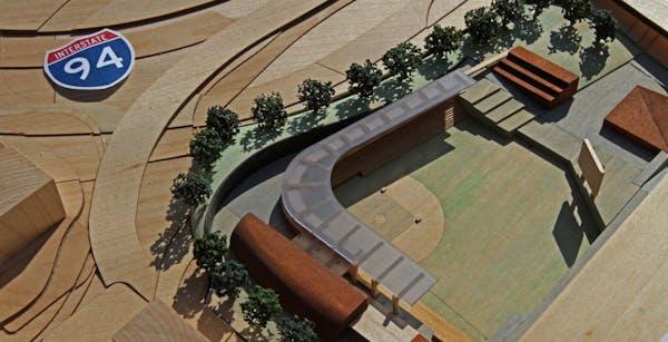 A model of the new St. Paul Saints ballpark.