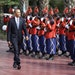 U.S. President Barack Obama is welcomed by a Senegalese honor guard as he arrives at the presidential palace in Dakar, Senegal, Thursday, June 27, 201