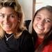 Nina MacKay, 56, with her daughter Lindsay, 18.