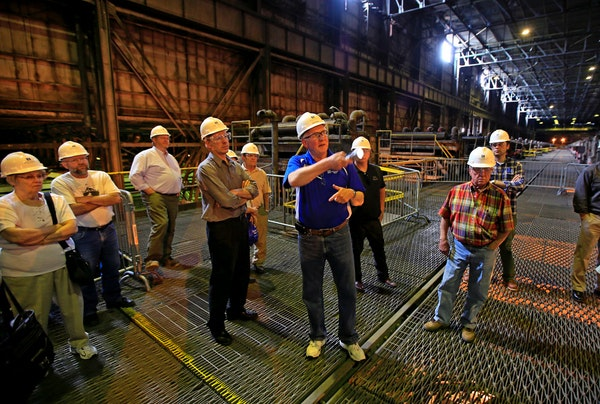 PolyMet Mining in Hoyt Lakes hosted an open house at the city's arena to give interested visitors a chance to ask questions about the mining operation
