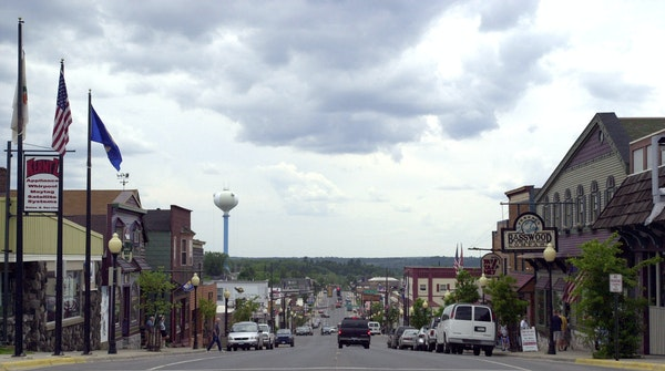 Downtown Ely, Minn., a decade ago. These days, business is not booming.