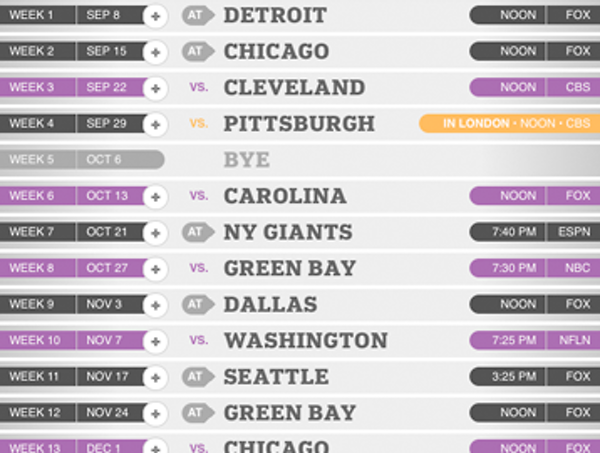 Interactive: 2013 schedule by opposing quarterbacks