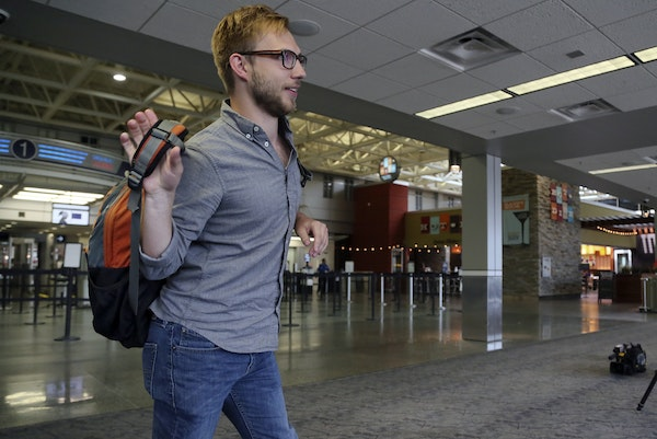 Nicholas Vangen-Weeks, 24, who works for the Minneapolis-based American Refugee Committee, was leaving Tuesday from Minneapolis-St. Paul International