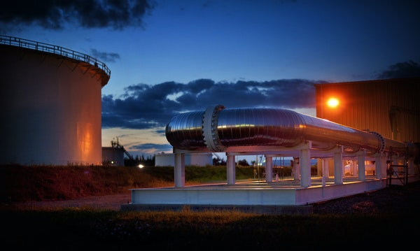 Enbridge's oil pipeline transfer station in Clearbrook, Minn., shown last summer, sees about 3.5 million gallons of mostly Canadian crude flow throu