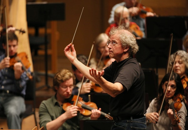 Osmo Vanska led members of the Minnesota Orchestra during a practice session in April 2012.