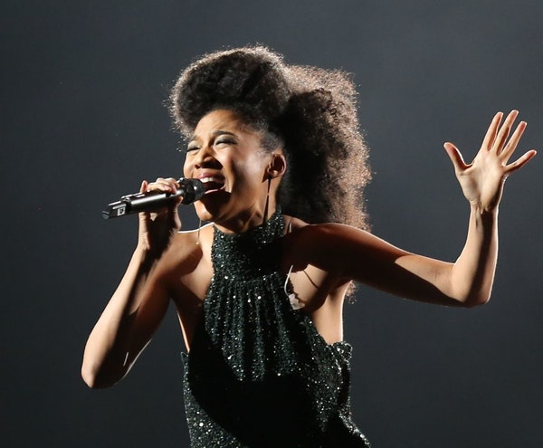 Judith Hill in 2013, when she performed as the opening act for Josh Groban at the Target Center in Minneapolis.