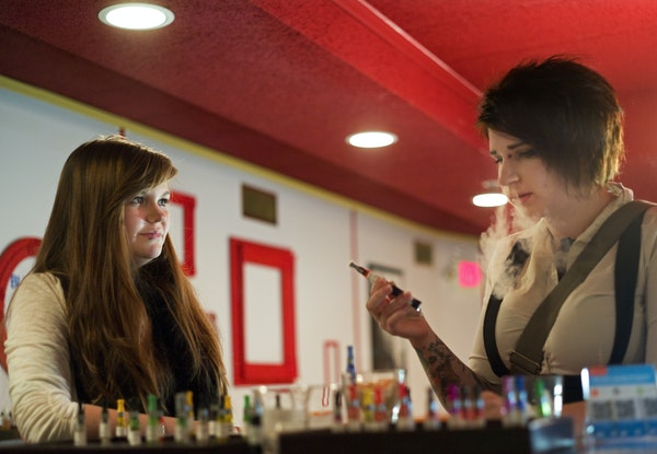 In an effort to limit a surge of e-cigarette/ vaping lounges, Hopkins passed a moratorium on them after Paula Williams opened on Main Street. Manager