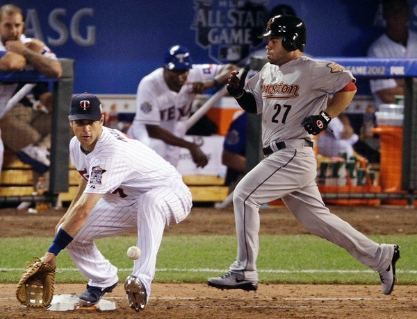 Joe Mauer played first base during the All-Star Game in 2012 and will field that position for the Twins in 2014.