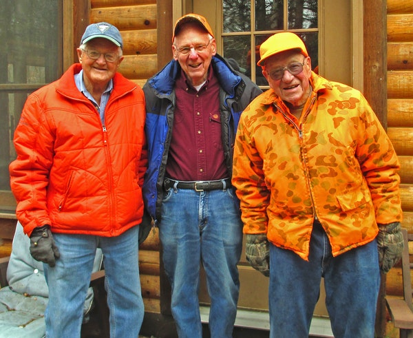 At the age of 95, Bob Rupp, left, of Stillwater, will be among the most senior Minnesotans hunting deer when the season opens Saturday. His younger hu